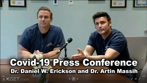 CA. Doctors COVID-19 Briefing With Hostile Reporters